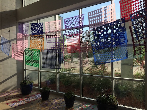 Fabric art installation