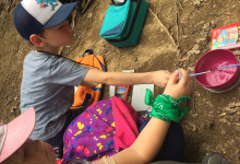 Campers painting on LLELA's hiking trails