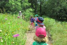 Campers hiking at LLELA